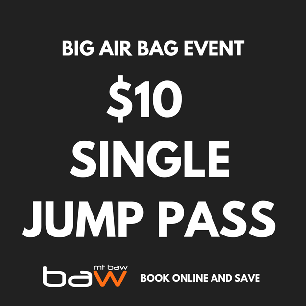 Picture of Single Jump Pass - Big Air Bag Charity Event
